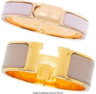 14165: Hermès Set of Two: Clic H and Clic Cadenas PM B