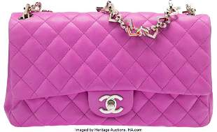 14101: Chanel Limited Edition Purple Quilted Lambskin L