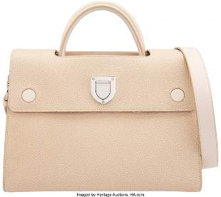 14108: Christian Dior Beige Calfskin Leather Medium Dio
