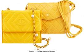 14183: Chanel Set of Two: Shoulder Bags Condition: 4 Se