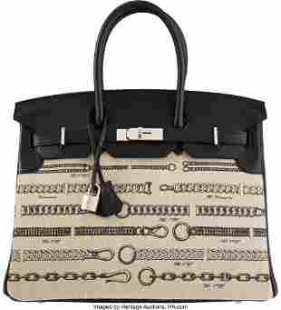 14045: Hermès Limited Edition 35cm Black Swift Leather