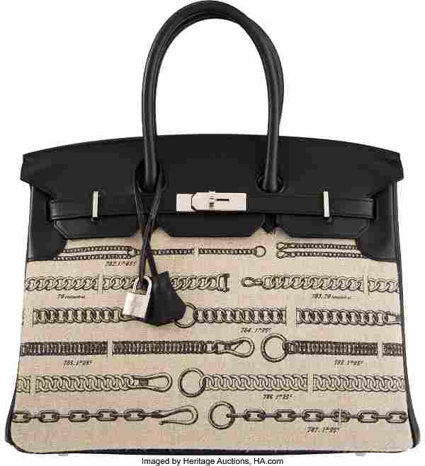 Hermès Limited Edition 35cm Black Swift Leather