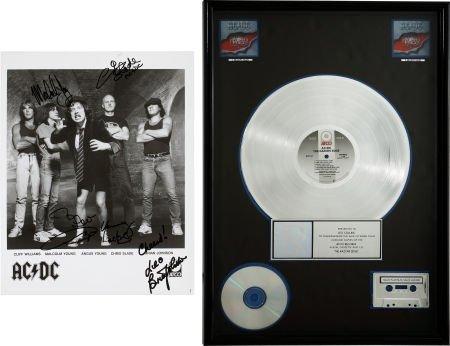 49002: AC/DC Razor's Edge RIAA Multi-Platinum Album Awa