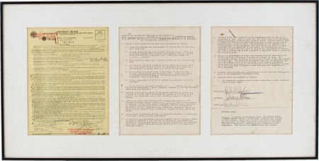49010: Duane Allman Signed Contract Framed Display.