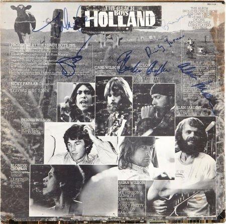 49017: Beach Boys Autographed Album.