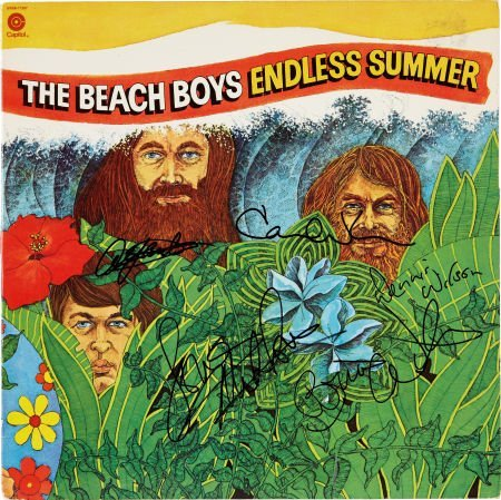 49018: Beach Boys Band-Signed Copy of Endless Summer.