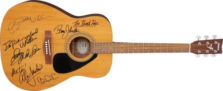 49019: Beach Boys Band-Signed Band Guitar.
