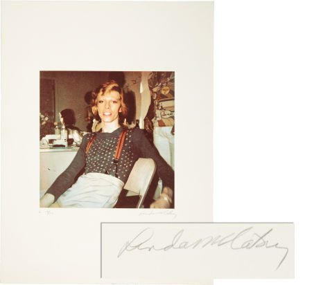49023: David Bowie - Linda McCartney Signed and Numbere