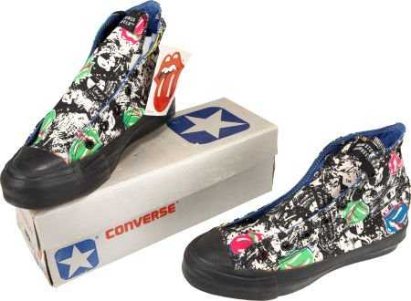 57d1858cb94c 49174  Rolling Stones Pair of Limited Edition Converse