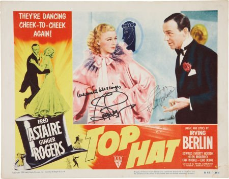 50010: Fred Astaire and Ginger Rogers Autographed Top H