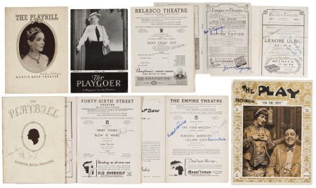 50017: Ethel Barrymore, Henry Fonda, and Others Autogra