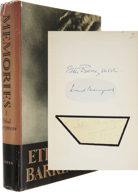50018: Ethel Barrymore Signed Autobiography, with Signa