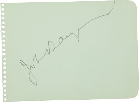 50020: John Barrymore Signed Autograph Album Leaf.