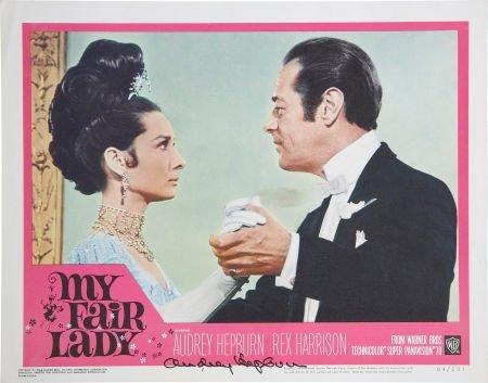 50134: Audrey Hepburn Signed My Fair Lady Lobby Card.