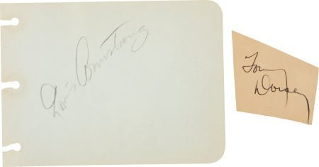 51002: Louis Armstrong and Tommy Dorsey Autographs.