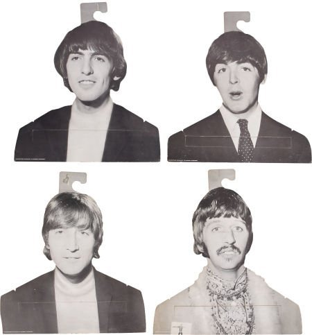 51023: Beatles Vintage Clothes Hangers, Set of 4.