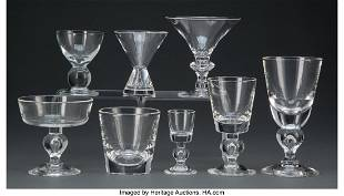 A Group One Hundred and Thirty Steuben Glassware