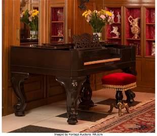 61103: A Steinway & Sons Mahogany Square Grand Piano wi