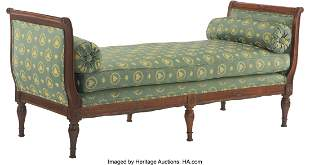 61106: A French Louis XV-Style Daybed with Green Napole