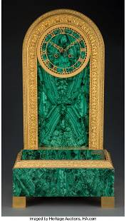 A Russian Neoclassical-Style Malachite and Gilt