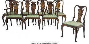 An Eight-Piece Set of Queen Anne-Style Japanned