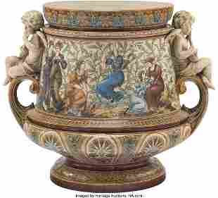 61028: A Large Villeroy & Boch Stoneware Jardinière, l