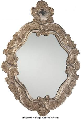 61122: A Spanish Colonial-Style Silver-Plated Mirror 49