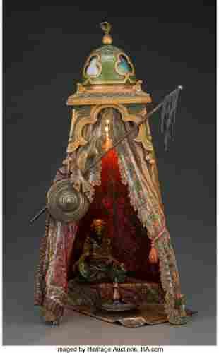 61035: A Franz Bergman Cold-Painted Bronze Caïd Arabe