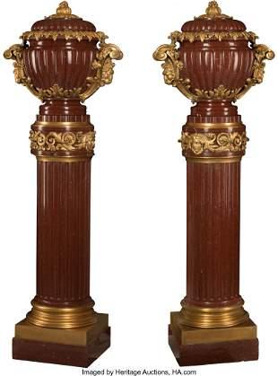 61051: A Pair of French Napoleon III Gilt Bronze Mounte