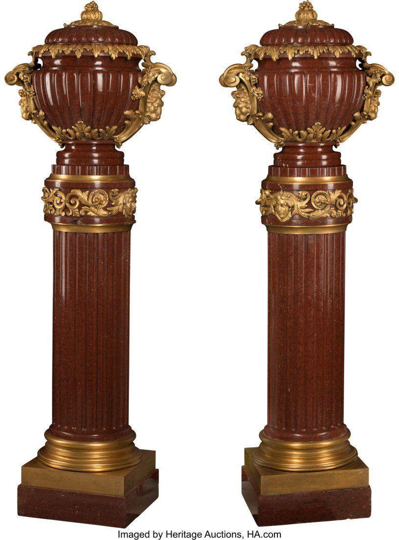 A Pair of French Napoleon III Gilt Bronze Mounte
