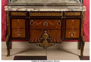 61057: A French Louis XVI-Style Gilt Bronze Mounted Par