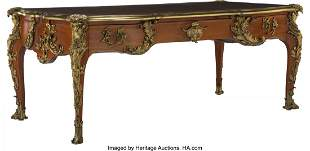 61073: A French Louis XV-Style Gilt Bronze Mounted Bure
