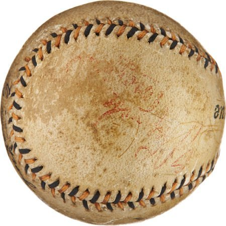 1913 World Series Game Used Baseball Signed by Tommy Co - 4
