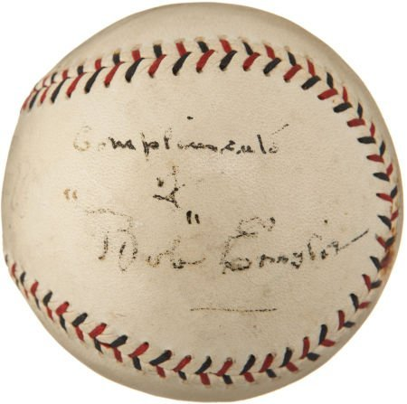 1920 Bob Emslie Single Signed Baseball, Umpire for Merk