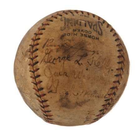 1924 New York Giants Team Signed Baseball.