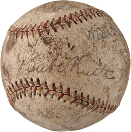"1927 ""Babe"" Ruth Single Signed Baseball."