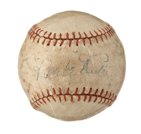 "Circa 1927 ""Babe Ruth"" Single Signed Baseball."