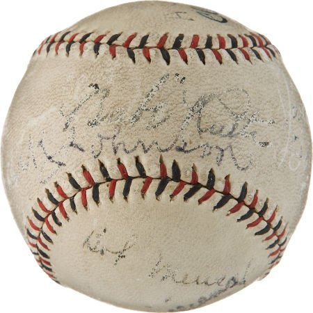 1920's Babe Ruth, Jack Johnson, Arthur Conan Doyle Sign