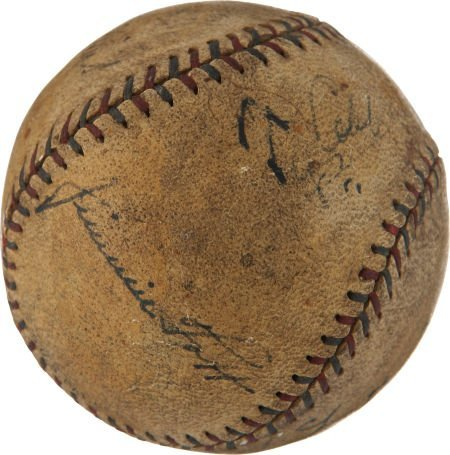 1928 Philadelphia Athletic Legends Multi-Signed Basebal