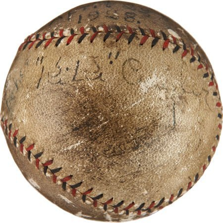 1928 Ki Ki Cuyler Single Signed & Game Used Baseball.