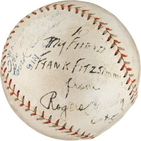 1928 Rogers Hornsby Single Signed Baseball.