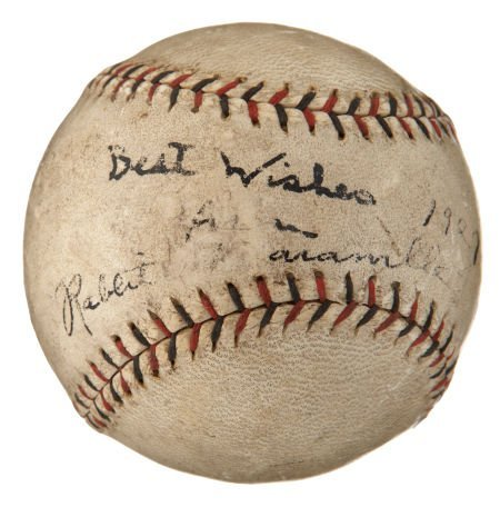 Circa 1930 Rabbit Maranville Single Signed Baseball.
