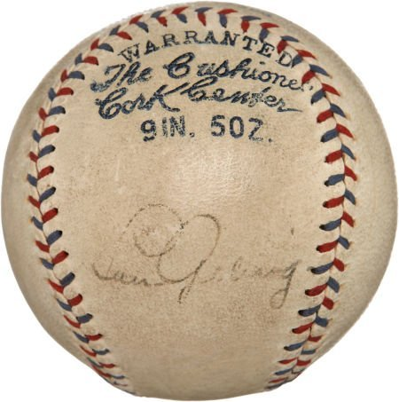 Early 1930's Lou Gehrig Signed Baseball.