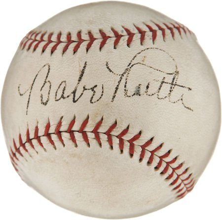 Circa 1932 Babe Ruth Single Signed Baseball.