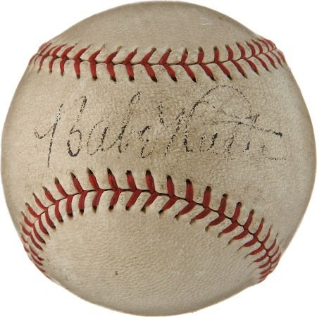 Circa 1934 Babe Ruth Single Signed Baseball.