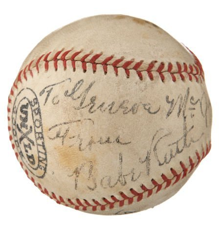 Circa 1940 Babe Ruth Signed Baseball.