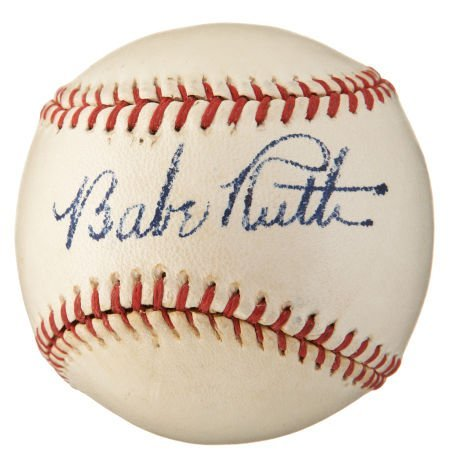 Circa 1940 Babe Ruth Single Signed Baseball.