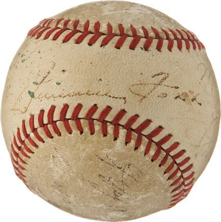 Circa 1940 Jimmie Foxx Signed Baseball.