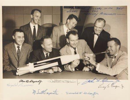 "41009: ""Mercury Seven"" NASA Astronaut Group One Photo S"