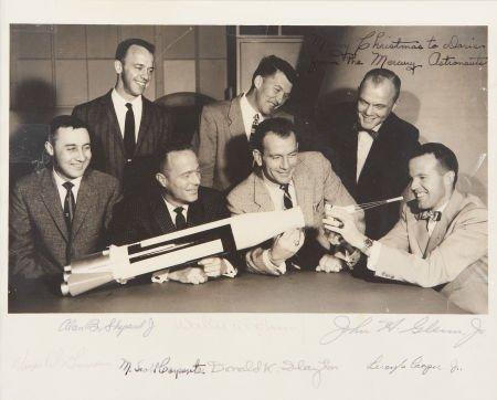 "41011: ""Mercury Seven"" NASA Astronaut Group One Photo S"